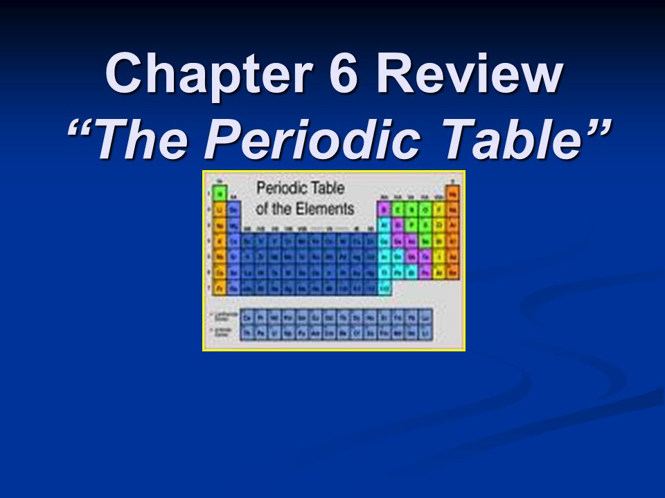 Chapter 6 review the periodic table ppt video online for Table 6 insurance rating