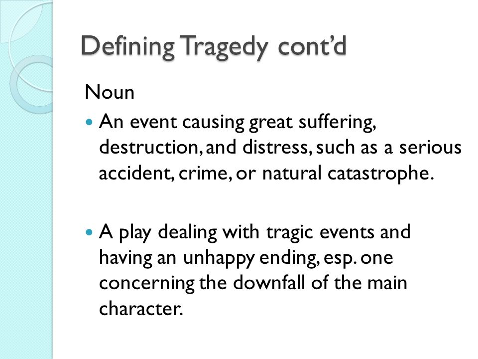 the main characteristics of a tragic play Aristotle defines tragedy according to seven characteristics: (1) it is mimetic, (2) it   are listed here in order from most important to least important: plot, character,   in some plays, in which an actor playing one of the gods was lowered onto the.