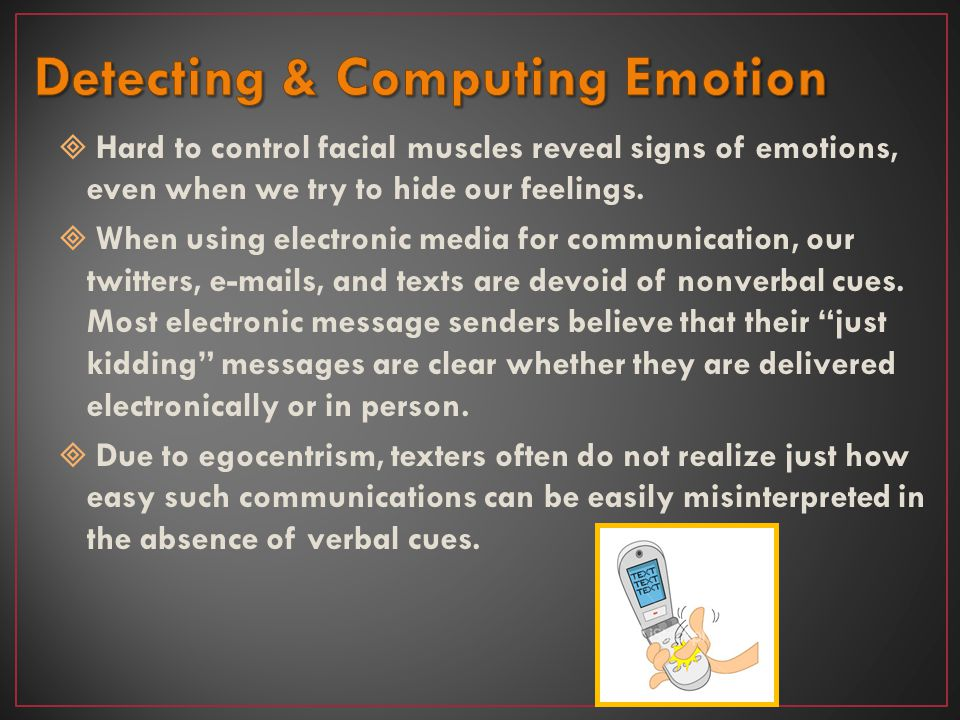 Detecting & Computing Emotion