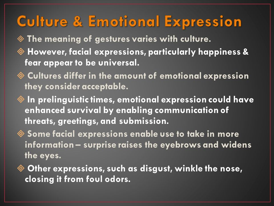 Culture & Emotional Expression