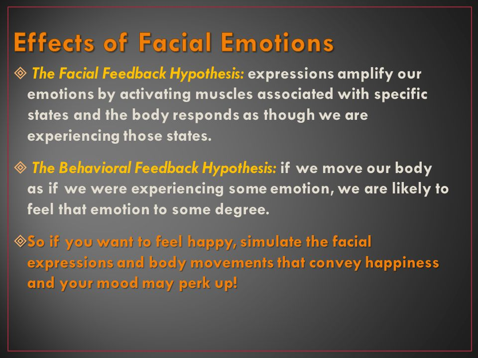 Effects of Facial Emotions