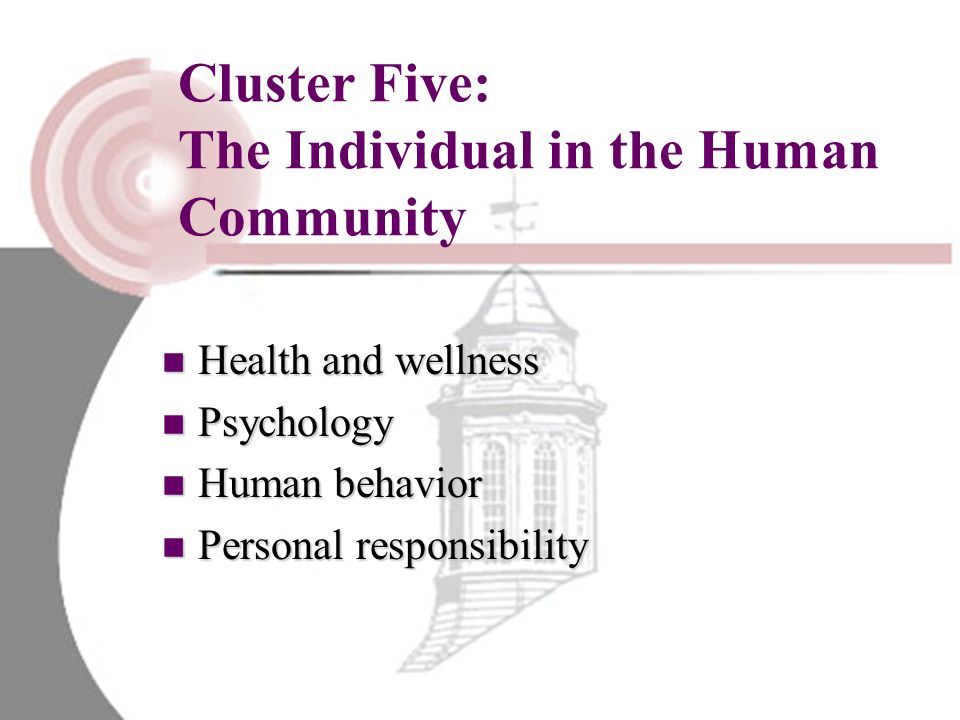 Cluster Five: The Individual in the Human Community