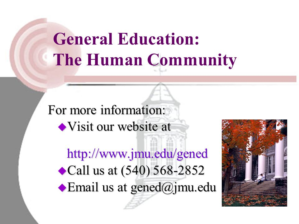 General Education: The Human Community