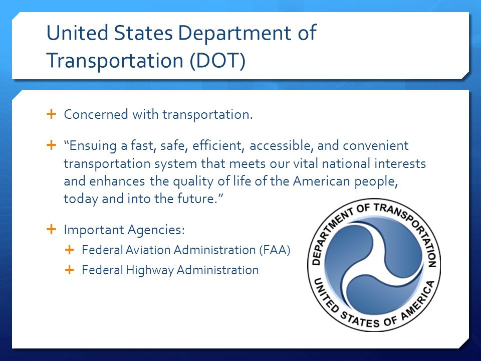 United States Department of Transportation (DOT)