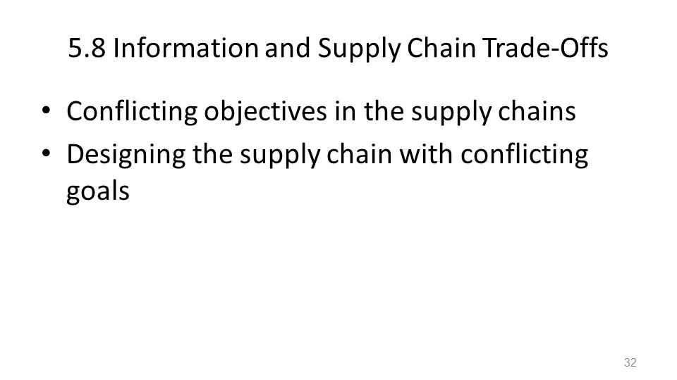 conflicting objectives supply chain Commonly process industries supply chains deal with chemical process based   and multi-objective problems, where conflicting objectives may be present,.