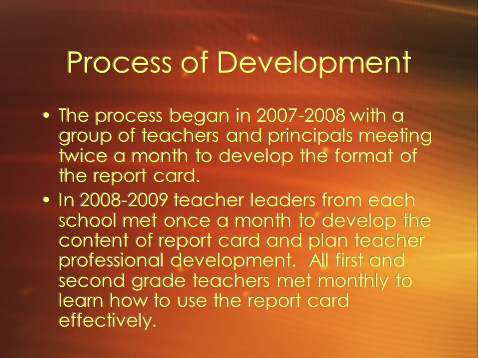Process of Development