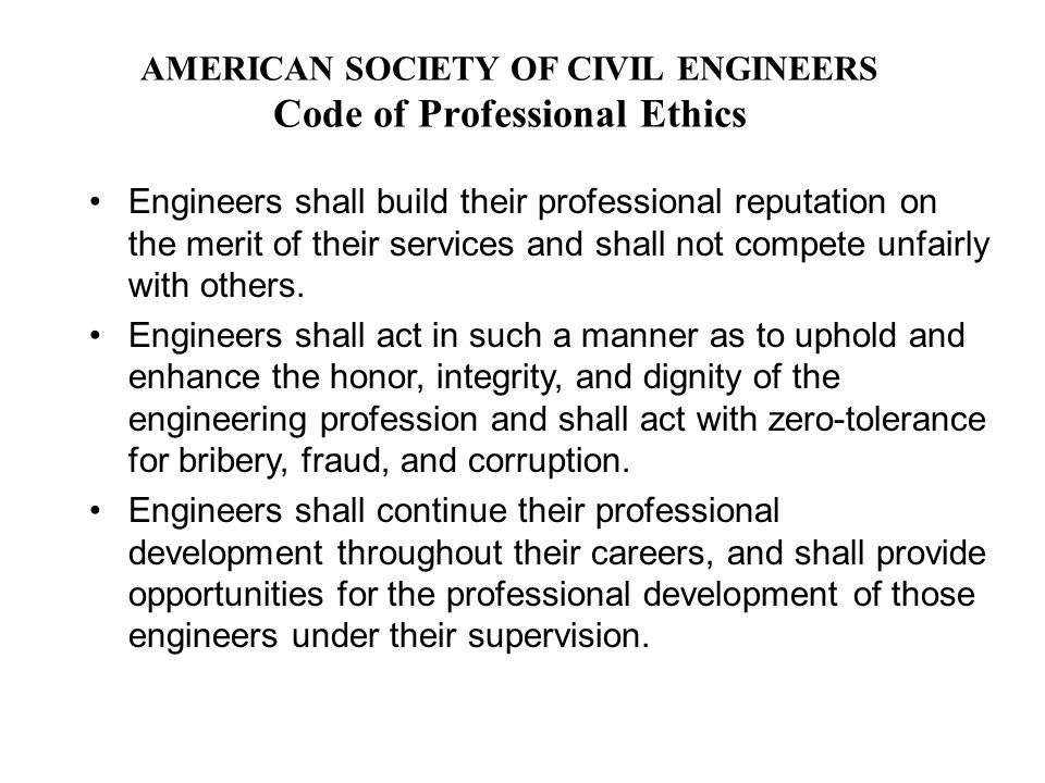 bribery in engineering profession