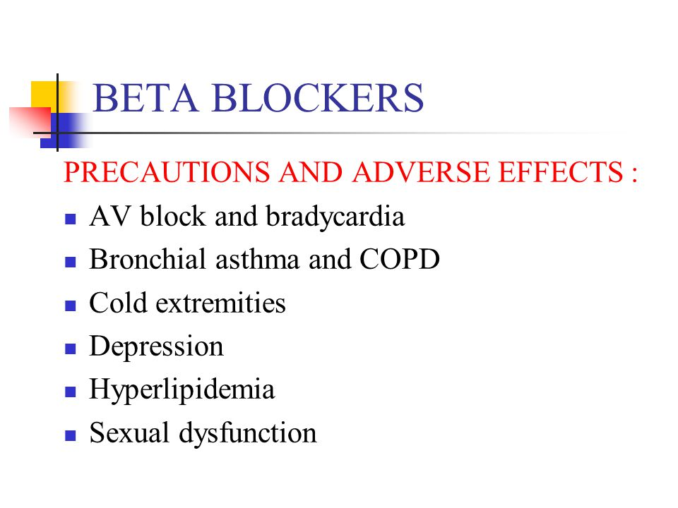Sexual problems with beta blockers