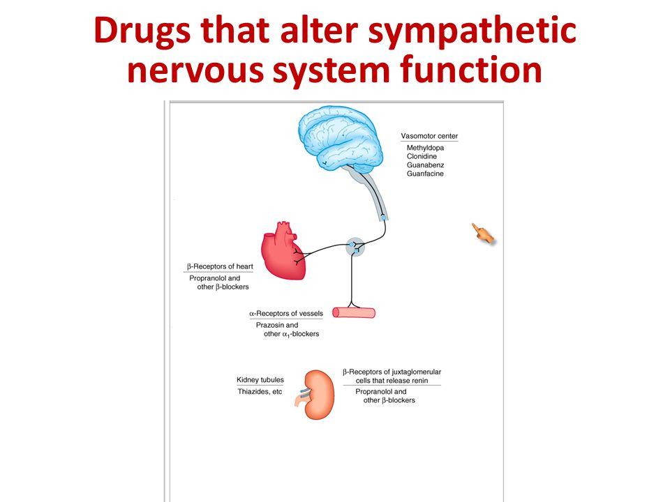 Drugs that alter sympathetic nervous system function