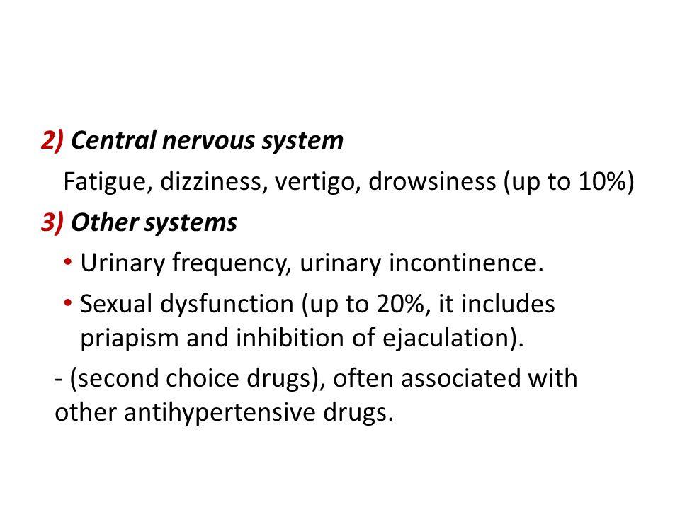 2) Central nervous system