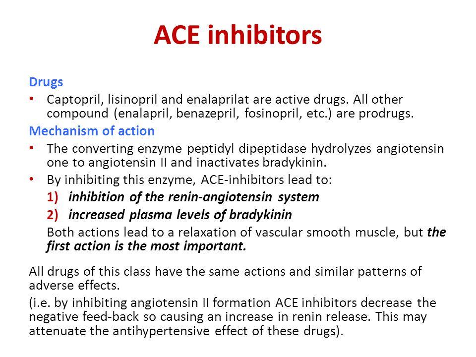 ACE inhibitors Drugs.
