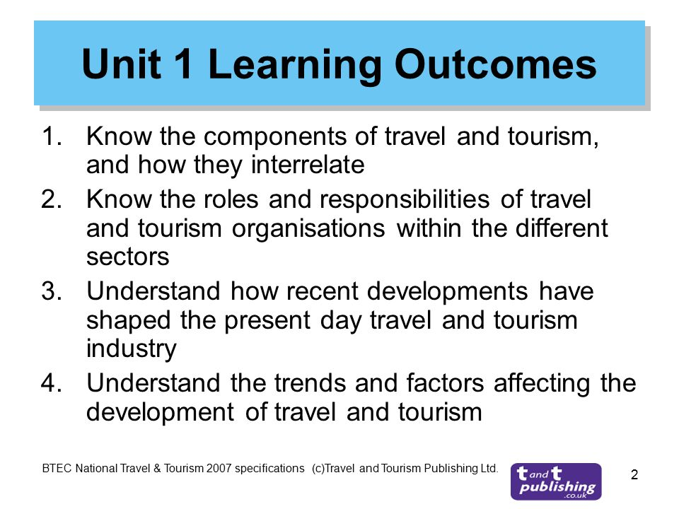 how trends and factors are currently affecting the travel and tourism sector Btec travel and tourism level 3 - unit 1 - investigating the travel and tourism sector trends and factors - p5, m2, d2 for p5, learners should review the trends and factors that are currently affecting the travel and tourism sector.