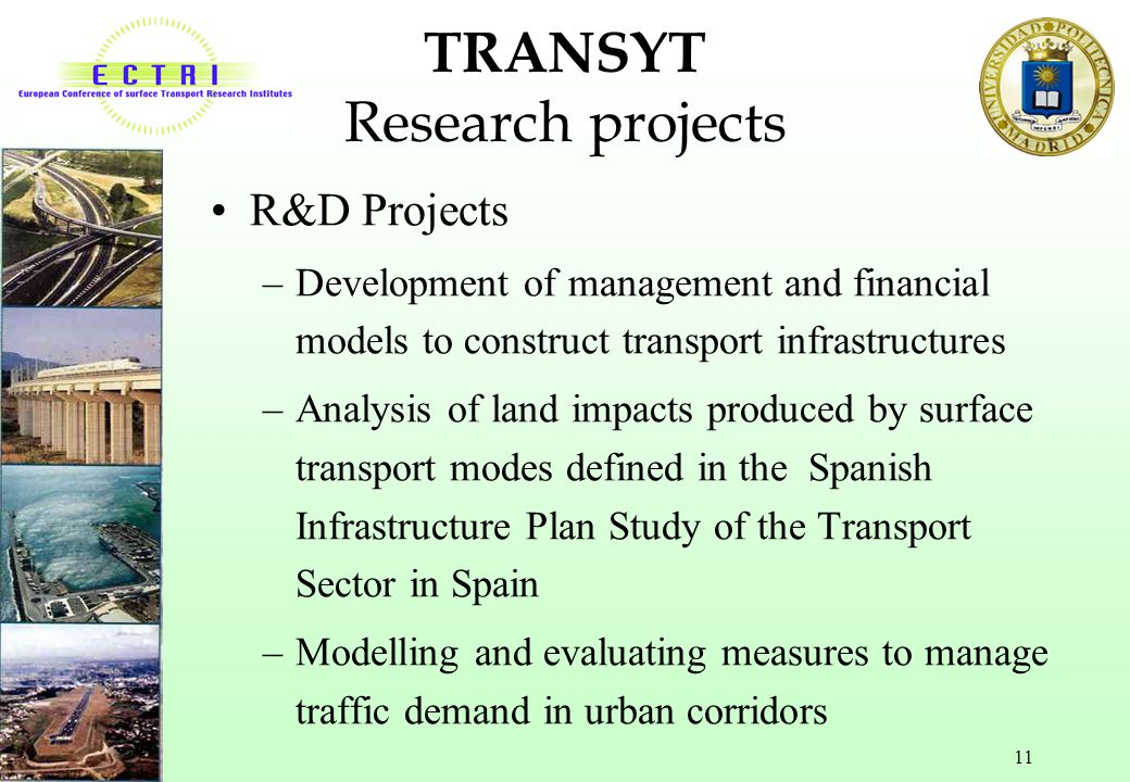 TRANSYT Research projects