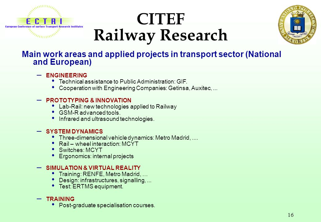 CITEF Railway Research