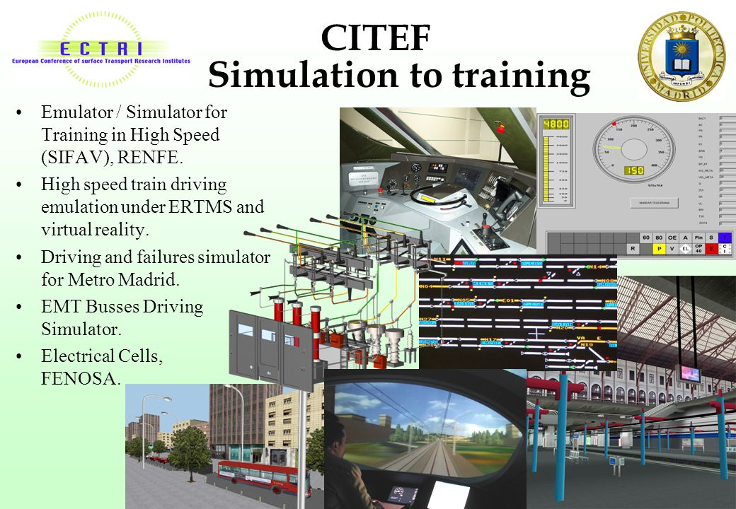 CITEF Simulation to training
