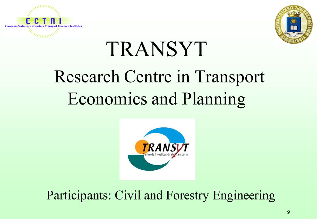 TRANSYT Research Centre in Transport Economics and Planning