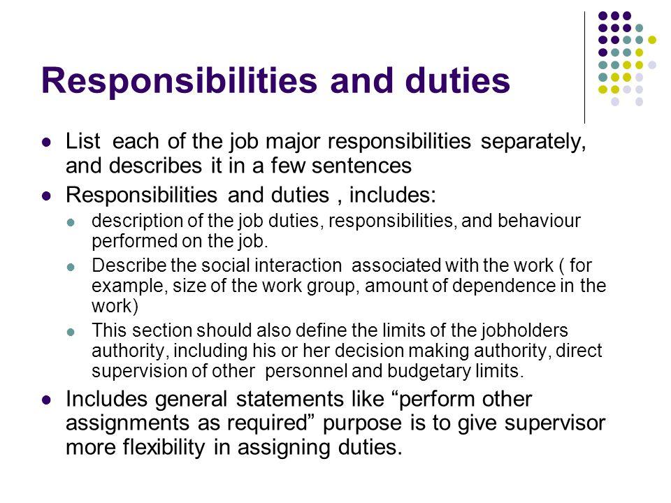 supervisor duties and responsibilities pdf