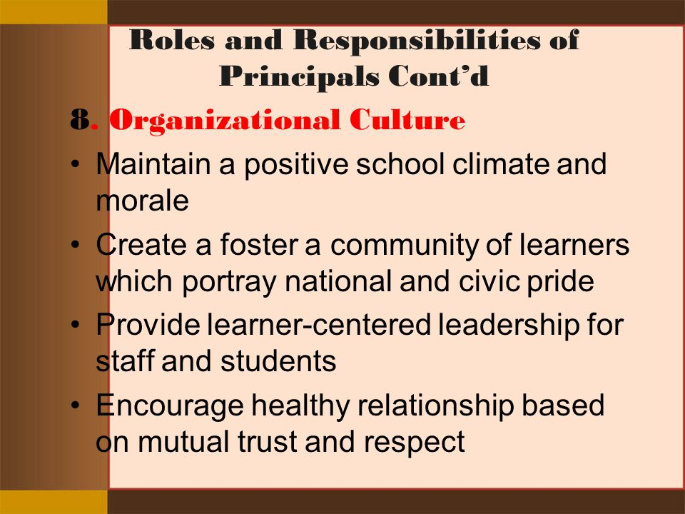 relationship based on trust and respect in leadership