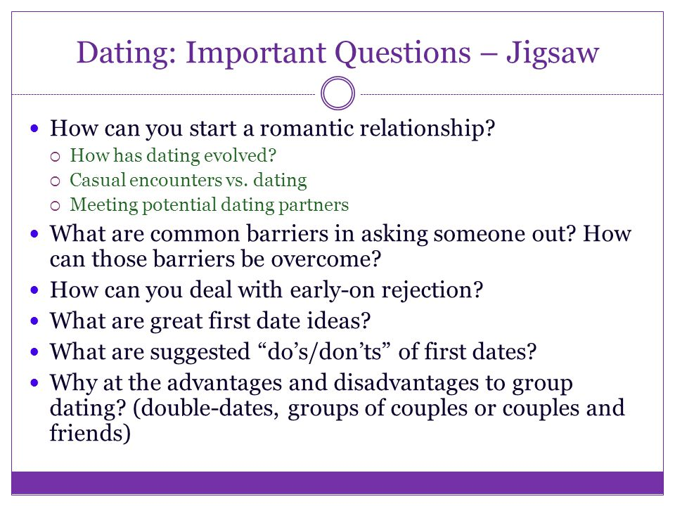 Most important dating questions