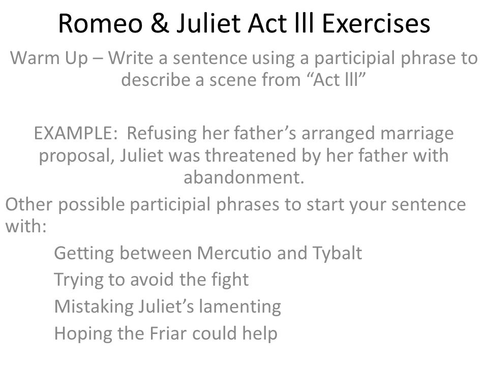 romeo and juliet arranged marriage s Romeo and juliet's love contrasts with the family feud (love vs conflict) juliet rebels against her family's structure her position in the family restricts her, she is the youngest and cannot do things without permission.