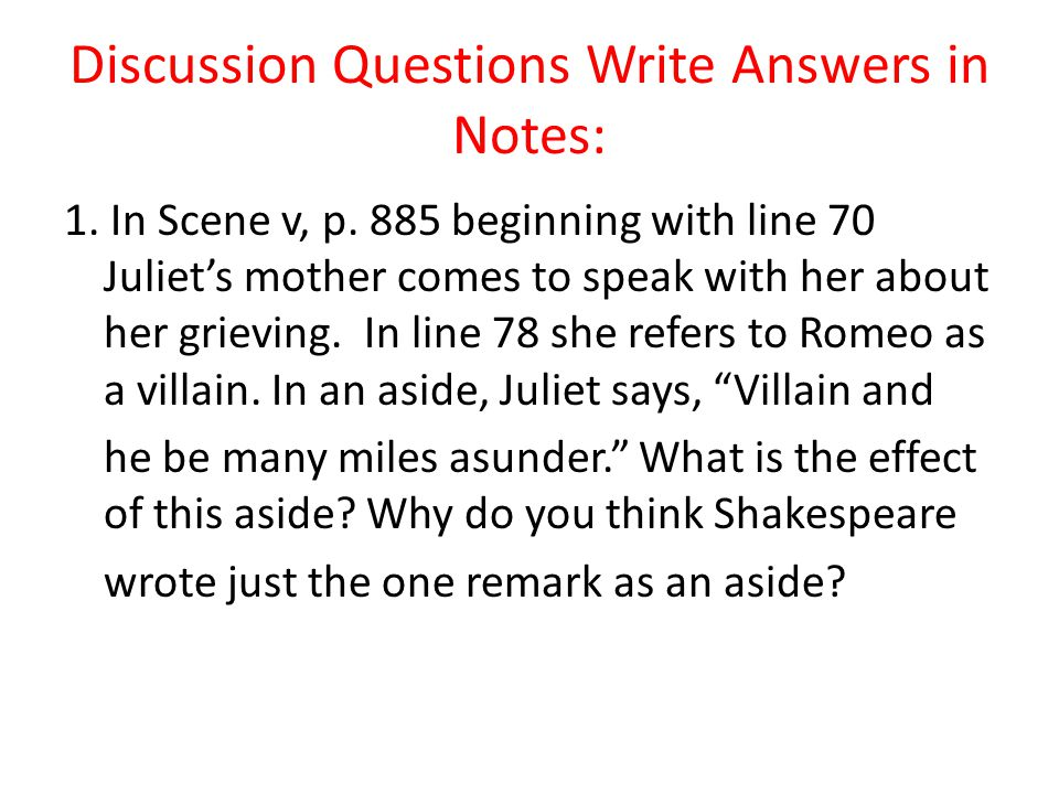 Romeo & Juliet Act lll Exercises - ppt download