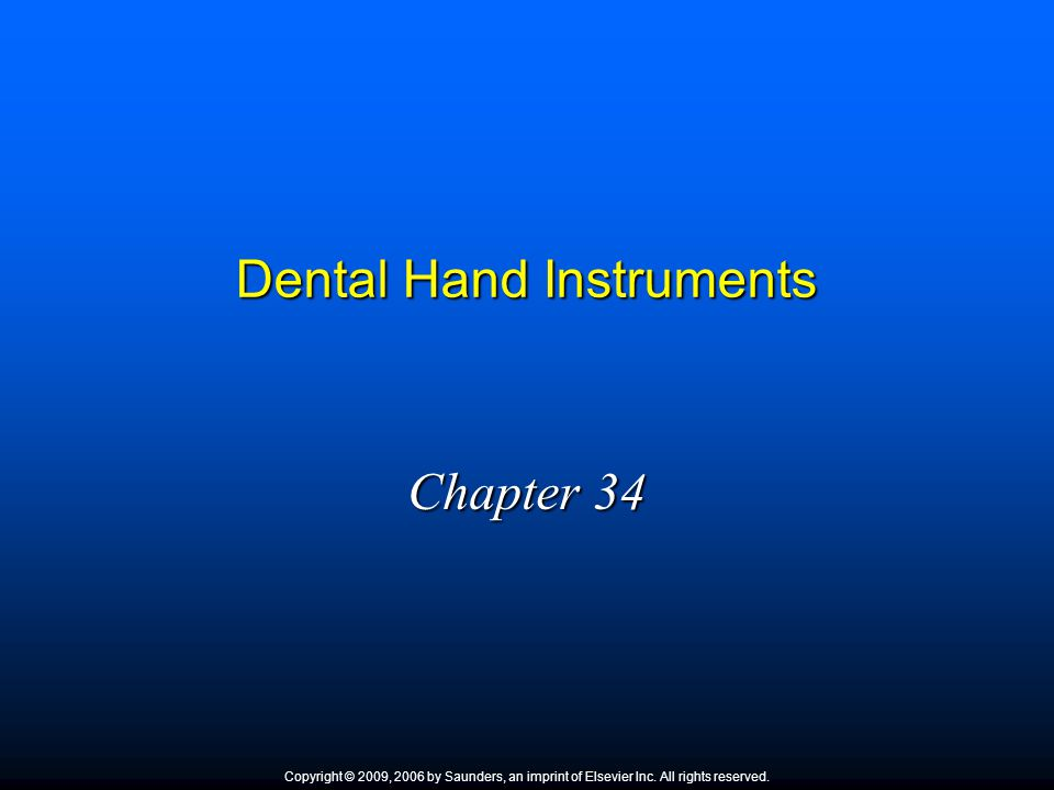 dental hand instruments Many dental procedures require the use of hand instruments with sharp cutting  edges this cutting instrument group used in operative dentistry includes .
