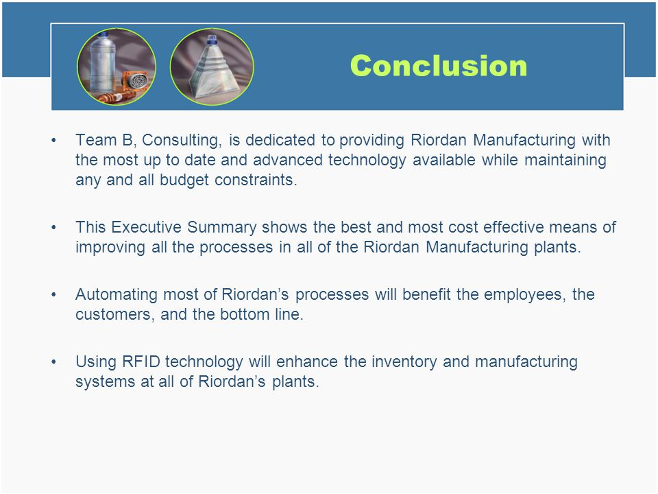 riordan manufacturing business systems Free essay: riordan manufacturing business systems analysis riordan manufacturing business systems analysis dr michael riordan, a professor in chemistry.