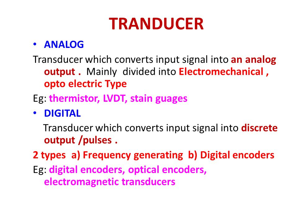 SNGCE UNIT 2 Transducers DEEPAK P. - ppt download