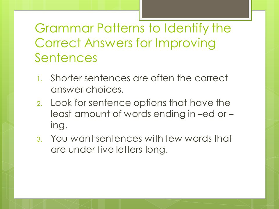prep for writing sentences