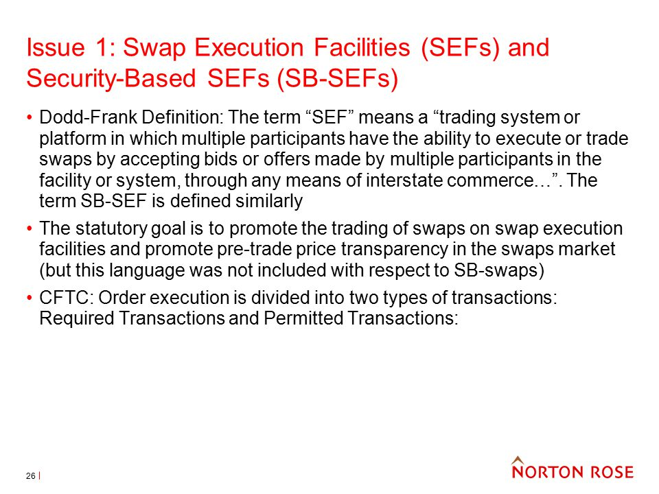 Sef trading system