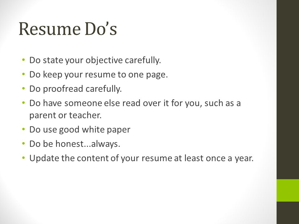 do resumes have to be one page