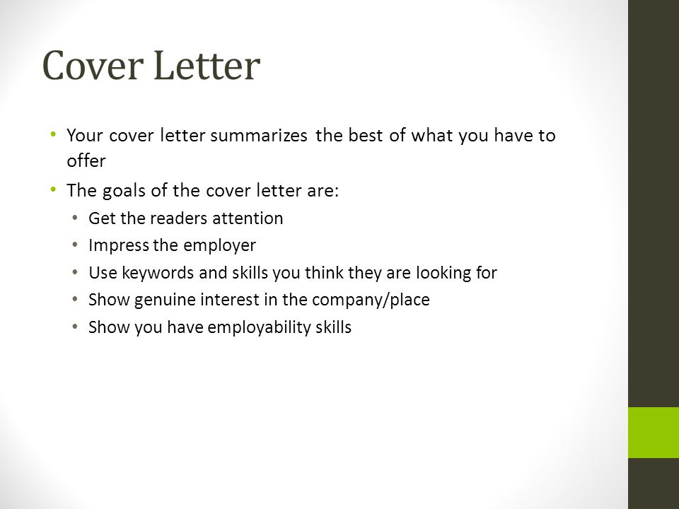 18 cover letter your - Your Cover Letter