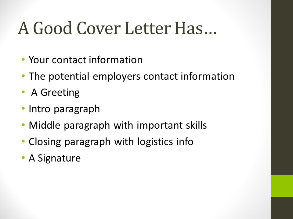 a good cover letter has. Resume Example. Resume CV Cover Letter