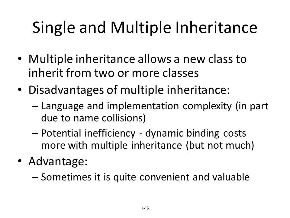 Single and Multiple Inheritance