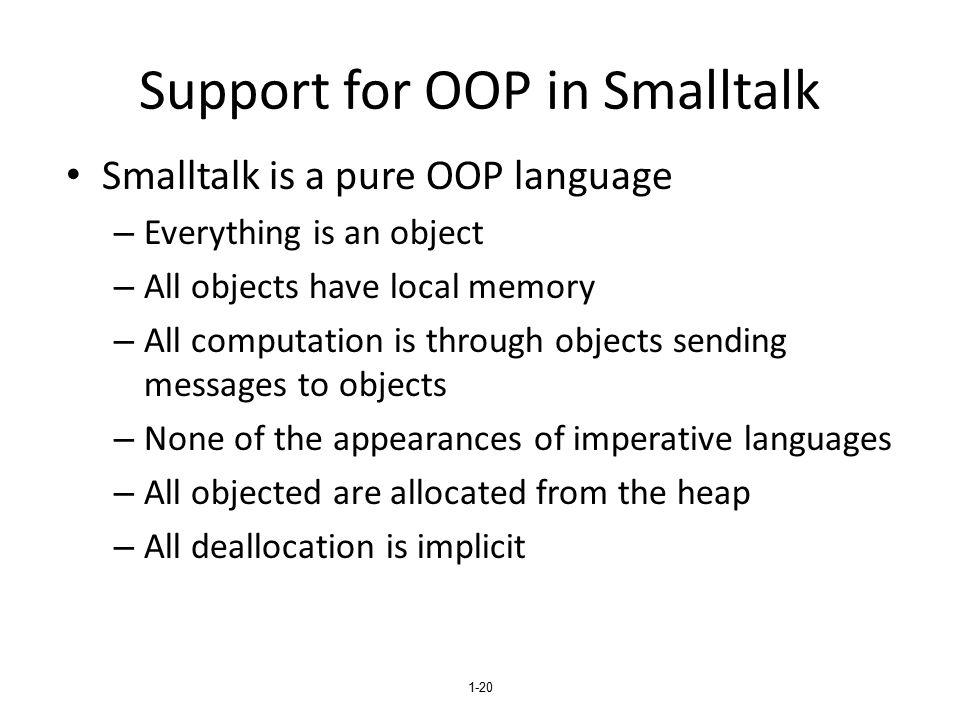 Support for OOP in Smalltalk