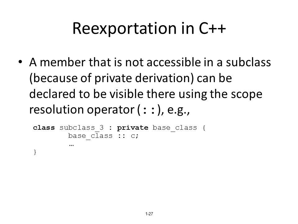 Reexportation in C++