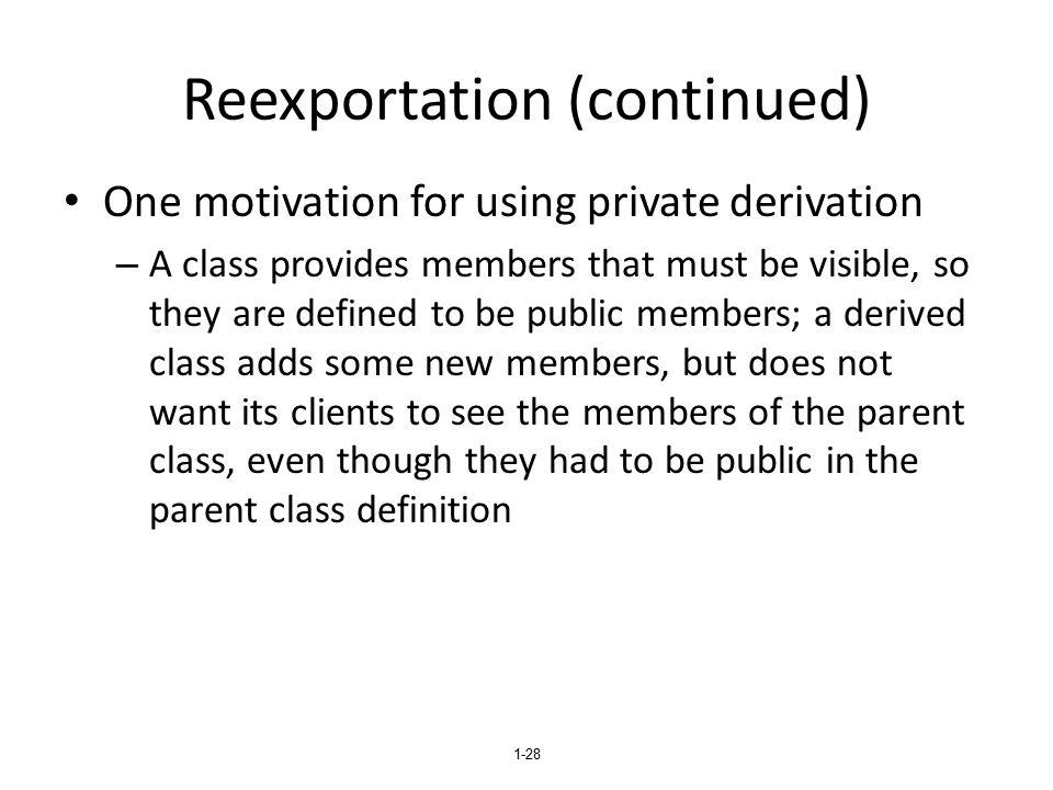 Reexportation (continued)