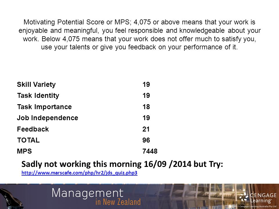 motivating potential score mps Motivating potential score definition, categories, type and other relevant information provided by all acronyms mps stands for motivating potential score.