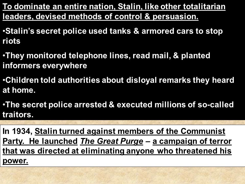 what methods did stalin use to See the glog what methods did stalin use to control the soviet union: text, images, music, video   glogster edu - interactive multimedia posters.