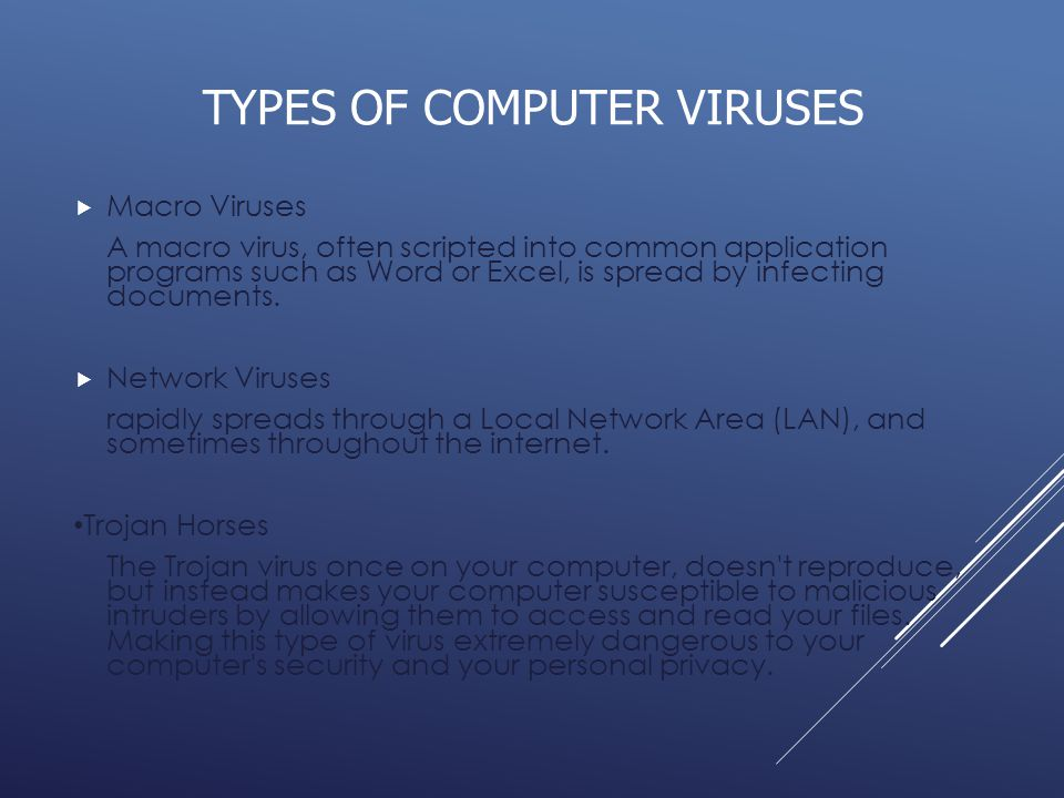 a short overview of computer viruses Evolution of computer virus concealment and anti -virus techniques: a short survey this paper presents a general overview on evolution of.