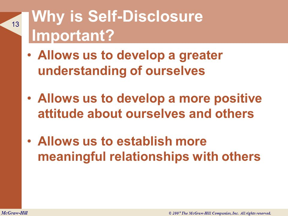 how does self disclosure and feedback enhance a relationship