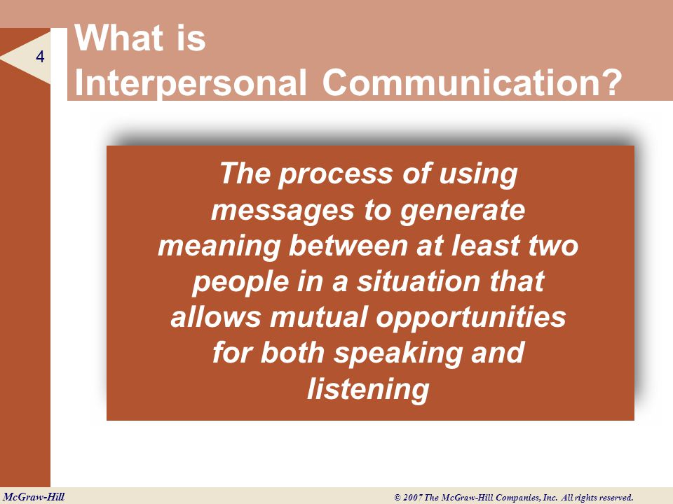 importance of interpersonal communication Interpersonal communication is important not only to understand the patient, but  to treat him as an individual with his own needs and problems,.
