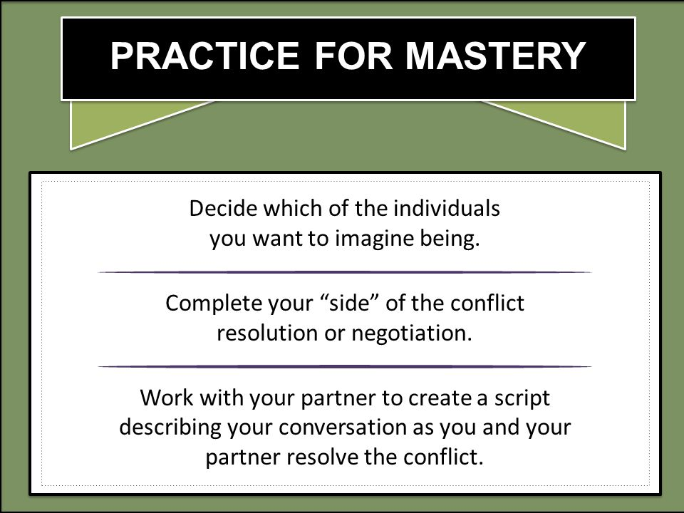 PRACTICE FOR MASTERY