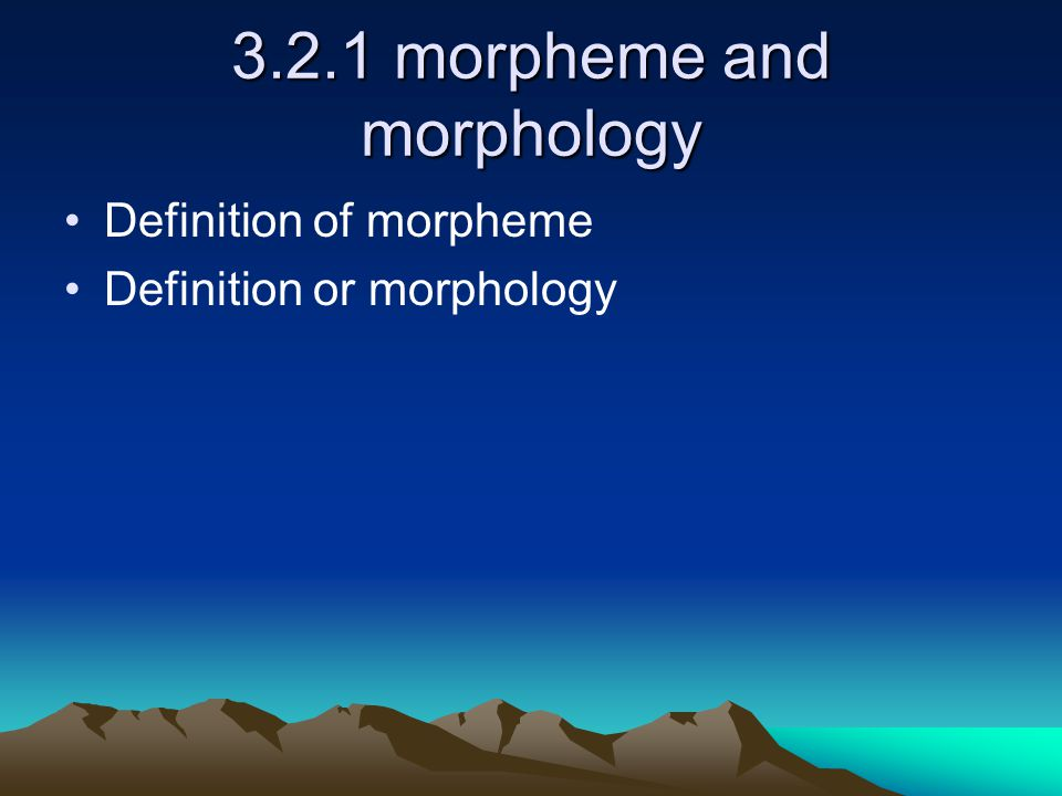 morphology affix and word This week, we talk about root morphemes and affixes: what the most  we talked  about how to see what part of a word a morpheme is, and what it means for   goes in the middle, and then the past tense morphology sandwiches around it.