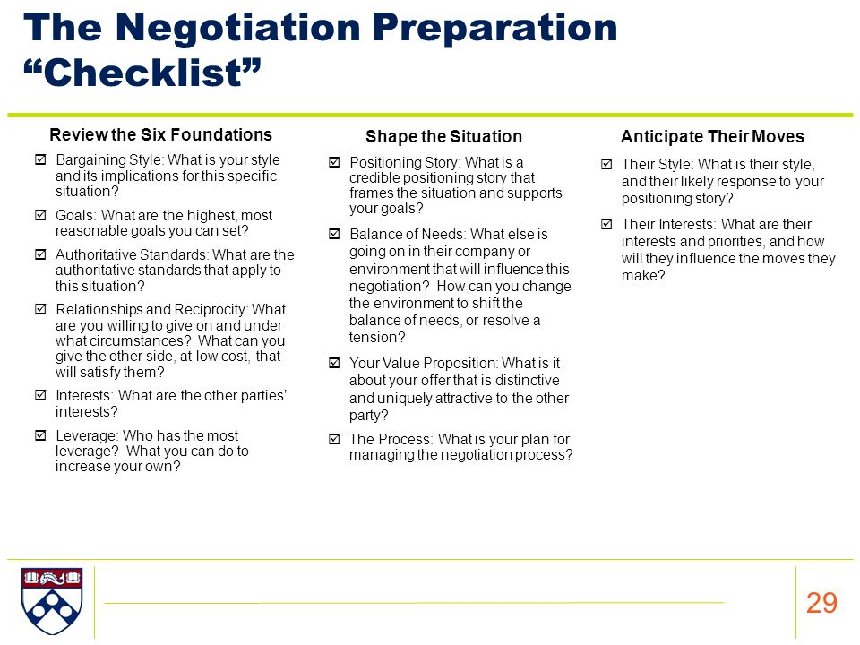 negotiation preparation Win-win negotiation preparation sheet  aspect of the negotiation notes goals trades alternatives relationship expected outcome consequences of winning or losing.