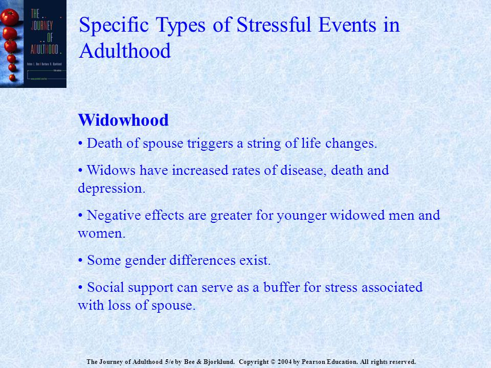 Specific Types of Stressful Events in Adulthood