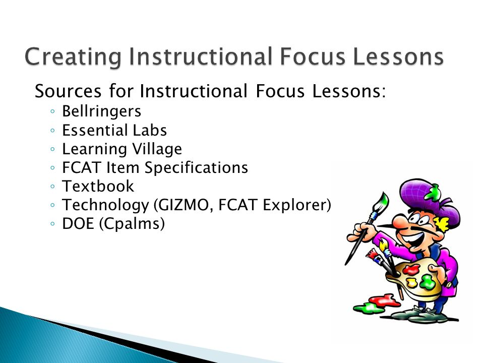 Creating Instructional Focus Lessons