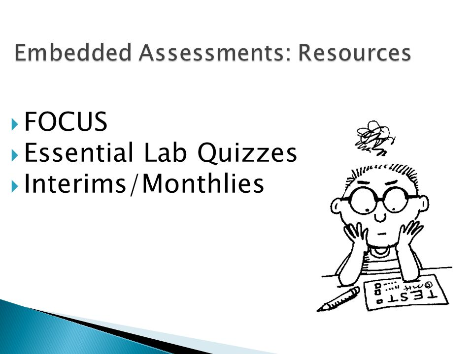 Embedded Assessments: Resources