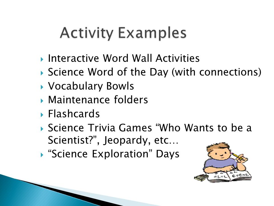 Activity Examples Interactive Word Wall Activities