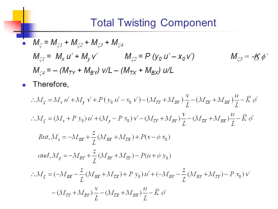 Total Twisting Component